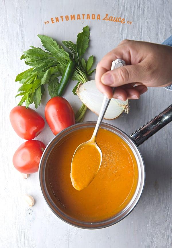 Zucchini-Goat-Cheese-Entomatadas_Entomatada-Sauce-Salsa-para-entomatadas_Yes,-more-please!