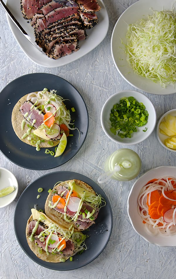 Black-Sesame-Seared-Ahi-Tuna-Taco-Party