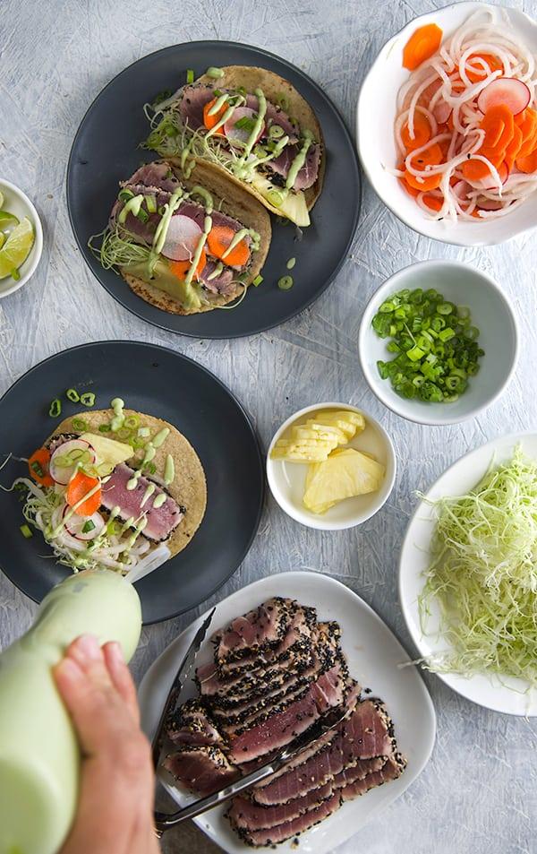 Black-Sesame-Seared-Ahi-Tuna-Tacos_Making-Tacos_Yes,-more-please!