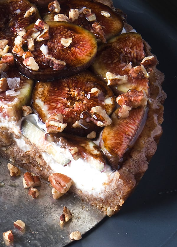 Fig Honey Kefir Tart with Pecan Date Crust