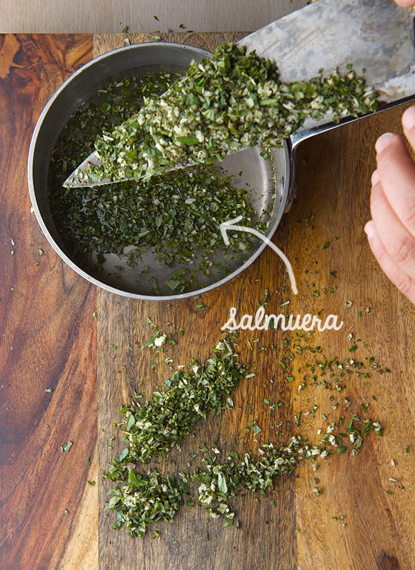 Fall-Herbs-Chimichuri_chopped-Herbs-and-Salmuera
