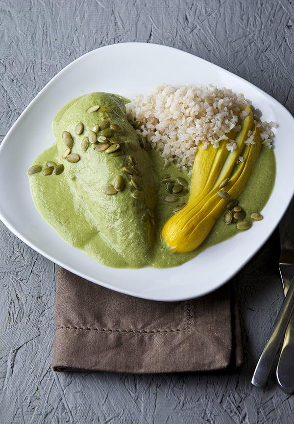Mariana's-Pipian-Verde_with-chicken-Con-pollo-Mole_Yes,-more-please!