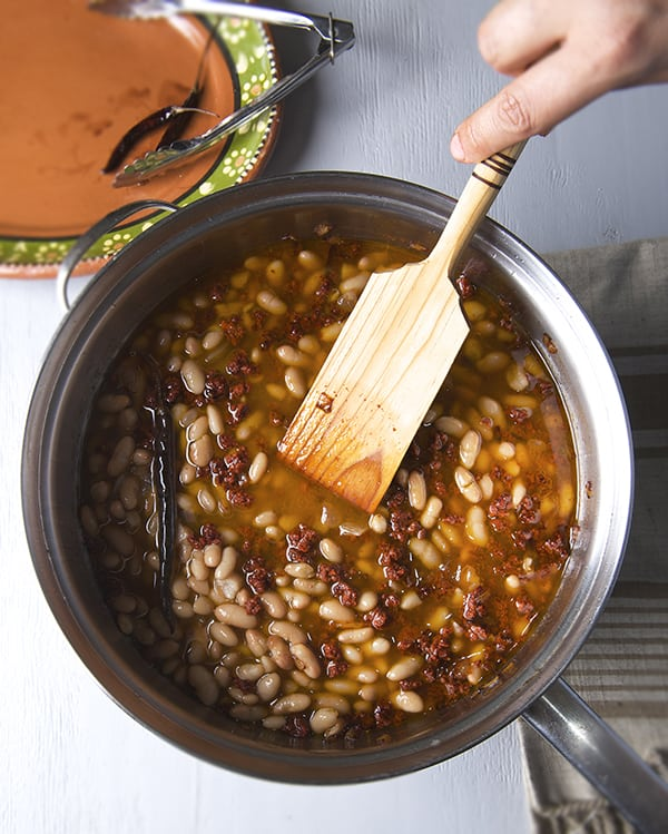 how to make Chorizo Beans-Frijoles con chorizo