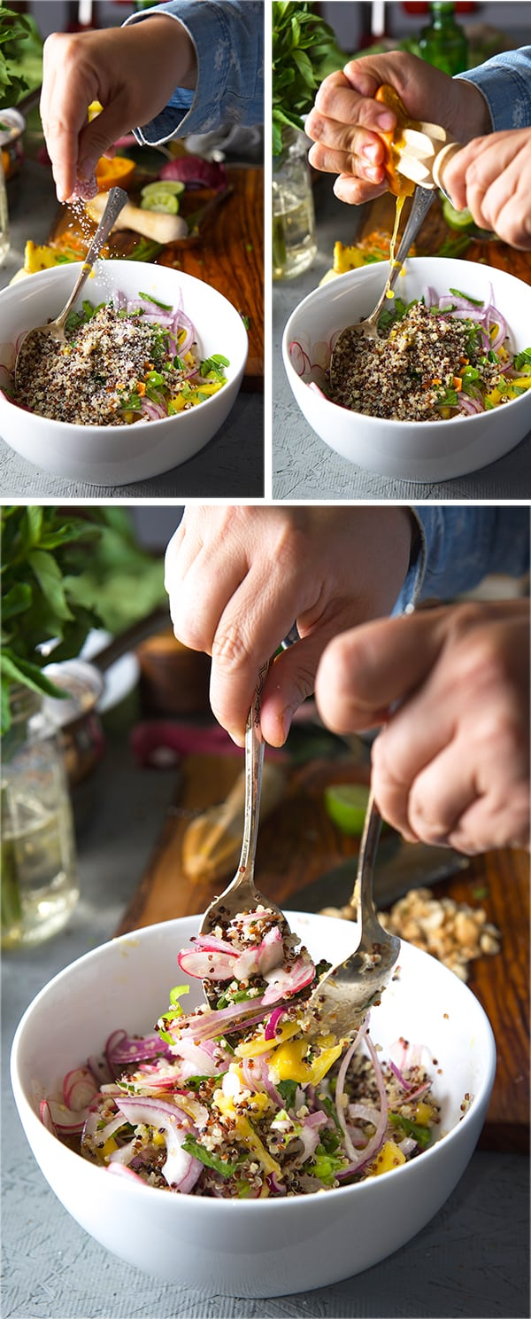 Radish-Pineapple-Mint-Quinoa-Salad_Best-salad-for-grilled-fish