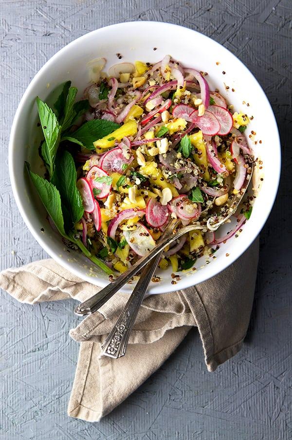 Radish-Pineapple-Mint-Quinoa-Salad_Yes,-more-please!